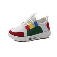 baratos Sapatos de Menino-Para Meninos Sapatos Camurça Outono & inverno Conforto Tênis Caminhada Cadarço para Adolescente Branco / Preto / Cinzento