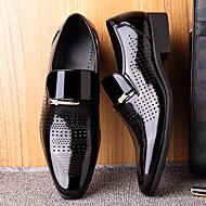 baratos Sapatos Masculinos-Homens Microfibra Primavera & Outono Conforto Mocassins e Slip-Ons Preto / Marron