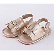 baratos Sapatos de Menina-Para Meninas Sapatos Couro Ecológico Verão Primeiros Passos Sandálias Mocassim / Velcro para Bebê Dourado