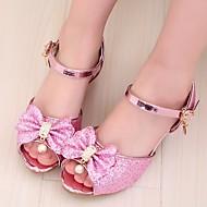 baratos Sapatos de Menina-Para Meninas Sapatos Couro Sintético Verão Sapatos para Daminhas de Honra / Salto minúsculos para Adolescentes Sandálias para Prata / Azul / Rosa claro