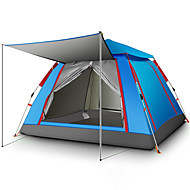 TANXIANZHE® 4 person Automatic Tent Outdoor Lightweight Windproof UV Resistant Single Layered Automatic Camping Tent 2000-3000 mm for Fishing Beach Camping / Hiking / Caving Oxford Cloth Silver Tape