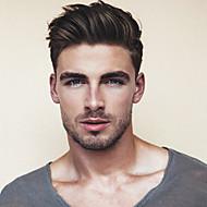 בגדי ריקוד גברים שיער אנושי פיאות ישר מונופילמנט / 100% קשירה ידנית רך
