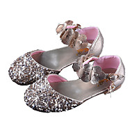 cheap Kids' Sandals-Girls' Shoes PU(Polyurethane) Spring &  Fall Tiny Heels for Teens Sandals Sequin for Kids Gold / Silver / Pink / Polyester Rubber