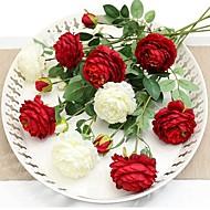 billige Kunstige blomster-Kunstige blomster 1 Gren Klassisk / Singel Stilfull / Pastorale Stilen Peoner Bordblomst