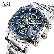 Χαμηλού Κόστους -ASJ Ανδρικά Αθλητικό Ρολόι Ρολόι Καρπού Ψηφιακό ρολόι Ιαπωνικά Χαλαζίας Ψηφιακή 30 m Ανθεκτικό στο Νερό Χρονογράφος LCD Ανοξείδωτο Ατσάλι Μπάντα Αναλογικό-Ψηφιακό Πολυτέλεια Μοντέρνα Ρολόι Φορέματος