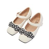 baratos Sapatos de Menina-Para Meninas Sapatos Couro Sintético Primavera & Outono Conforto Rasos Laço para Infantil Branco / Preto