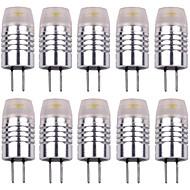 billige Bi-pin lamper med LED-10pcs 1.5 W 120 lm G4 LED-lamper med G-sokkel T 1 LED perler Høyeffekts-LED Dekorativ Varm hvit / Kjølig hvit 12 V