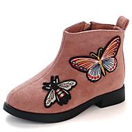 baratos Sapatos de Menina-Para Meninas Sapatos Camurça Outono & inverno Curta / Ankle Botas Caminhada Estampa Animal para Infantil Rosa claro / Vinho / Khaki