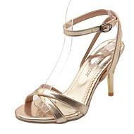 baratos Sapatos Femininos-Mulheres Couro Ecológico Primavera Conforto Sandálias Salto Agulha Prata / Amarelo / Vermelho