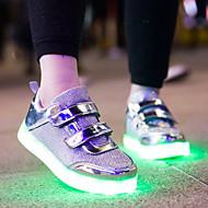 baratos Sapatos de Menino-Para Meninos Sapatos Couro Ecológico Outono Conforto Tênis para Adolescente Dourado / Prateado / Rosa claro