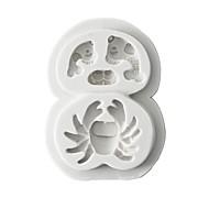 baratos Utensílios de Decoração-Ferramentas bakeware Borracha Silicone / Silicone / Gel De Silicone 3D / Faça Você Mesmo Bolo / Biscoito / Chocolate Animal Moldes de bolos 1pç