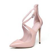 cheap -Women's Shoes Patent Leather Spring Comfort / Basic Pump Heels Stiletto Heel Black / Almond / Burgundy