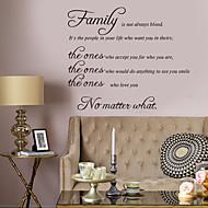 Dekoratif Duvar Çıkartmaları - Kelimeler ve Alıntılar Duvar Çıkartmaları Karakterler Oturma Odası / Yatakodası / Banyo
