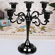 cheap Candles & Candleholders-European Style Iron Candle Holders Candelabra 1pc, Candle / Candle Holder