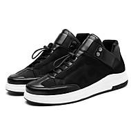 baratos Sapatos Masculinos-Homens Sapatos de couro Pele Napa Outono Tênis Preto / Branco / Preto