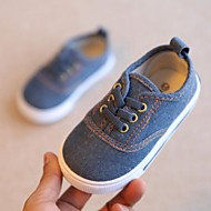 baratos Sapatos de Menina-Para Meninos / Para Meninas Sapatos Lona Primavera & Outono Conforto Tênis Cadarço para Infantil / Bébé Azul Escuro / Vermelho / Azul