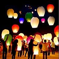 10pcs / set צבע רב באיכות גבוהה סינית פנס אש השמים טוס נרות מנורה עבור יום הולדת חתונה צד פנס רוצה פנס שמים פנסים