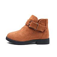 baratos Sapatos de Menina-Para Meninas Sapatos Camurça / Couro Ecológico Primavera Verão Conforto / Botas da Moda Botas Caminhada para Adolescente Cinzento / Marron / Vinho / Botas Curtas / Ankle