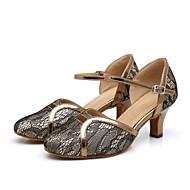 billige Moderne sko-Dame Moderne sko Syntetisk Joggesko Spenne / Sided Hollow Out Tykk hæl Dansesko Gull / Svart