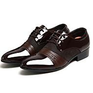 baratos Sapatos de Tamanho Pequeno-Homens Sapatos formais Couro Ecológico Primavera & Outono Oxfords Preto / Marron / Festas & Noite