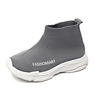 baratos Sapatos de Menino-Para Meninos Sapatos Tricô / Tecido elástico Outono / Primavera Verão Conforto Botas Caminhada Combinação para Infantil / Bébé Preto / Cinzento / Vermelho / Botas Curtas / Ankle
