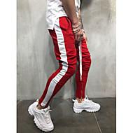 Herre Basale / Gade Chinos / Joggingbukser Bukser Ensfarvet Blå & Hvid / Sort & Rød / Sort og hvid