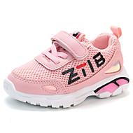 baratos Sapatos de Menina-Para Meninas Sapatos Com Transparência / Couro Ecológico Primavera Verão Conforto Tênis Caminhada para Infantil Preto / Cinzento / Rosa claro