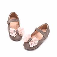 baratos Sapatos de Menina-Para Meninas Sapatos Couro Ecológico Primavera & Outono Conforto / Sapatos para Daminhas de Honra Rasos para Cinzento / Roxo