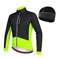 WOSAWE Homme Veste Vélo Cyclisme Vélo Anorak Veste Polaires Hiver Maillot Chapeau Chaud Doublure Polaire Des sports Mosaïque Elasthanne Toison Hiver Noir / Rouge / Vert / noir. VTT Vélo Route