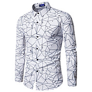 Erkek Pamuklu İnce - Gömlek Desen, Solid İş Çalışma Siyah L / Uzun Kollu
