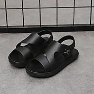 baratos Sapatos de Menino-Para Meninos Sapatos Couro Ecológico Verão Conforto Sandálias Velcro para Infantil / Adolescente Branco / Preto