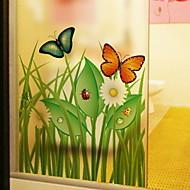 baratos Películas e Adesivos de Janela-Filme de Janelas e Adesivos Decoração Simples Floral PVC Criativo