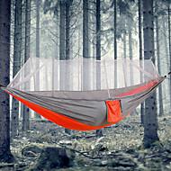 Camping-hængekøje med myggenet Udendørs Bærbar, Letvægt, Anti-myg Nylon for Camping / Camping / Vandring / Grotte Udforskning / Udendørs - 1 Person Orange / Gul