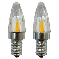 billige Stearinlyslamper med LED-2pcs 3 W 150-200 lm E12 LED-lysestakepærer 1 LED perler COB Dekorativ Varm hvit / Kjølig hvit 110-120 V