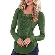 Dame - Ensfarvet Basale T-shirt