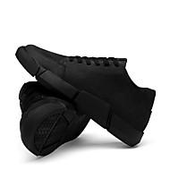 baratos Sapatos Masculinos-Homens Sapatos Confortáveis Lona Inverno Casual Tênis Preto