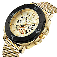 cheap Sport Watches-Men's Sport Watch Wrist Watch Japanese Quartz Hollow Engraving Casual Watch Cool Stainless Steel Band Analog Luxury Fashion Black / Silver / Gold - Gold / Black Black / White Rose Gold / White
