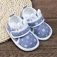 baratos Sapatos de Menino-Para Meninos / Para Meninas Sapatos Algodão Primavera & Outono Primeiros Passos Rasos Velcro para Bebê Vermelho / Azul / Rosa claro