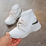 baratos Sapatos de Menino-Para Meninos Sapatos Com Transparência Outono & inverno Conforto Tênis Caminhada para Infantil Branco / Preto / Vermelho