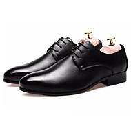 baratos Sapatos Masculinos-Homens Couro Ecológico Outono Conforto Oxfords Caminhada Preto / Marron