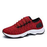 baratos Sapatos Masculinos-Homens Tricô / Com Transparência Verão Conforto / Solados com Luzes Tênis Corrida / Caminhada Preto / Vermelho