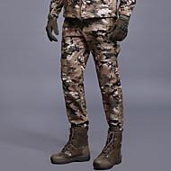 Homme camouflage Pantalons de Randonnée Extérieur Coupe Vent Pluie Etanche Design Anatomique Hiver Coquille Souple Pantalons / Surpantalons Chasse Pêche Camping Kaki Champagne Vert foncé XL XXL XXXL