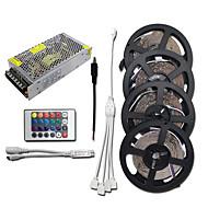 Χαμηλού Κόστους Φωτιστικά Λωρίδες LED-HKV 4x5M Σετ Φώτων 1200 LEDs 3528 SMD RGB Μπορεί να κοπεί / Συνδέσιμο / Αυτοκόλλητο 100-240 V 1set