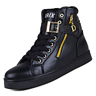 baratos Sapatos Masculinos-Homens Couro Ecológico Inverno Conforto Tênis Estampa Colorida Branco / Preto