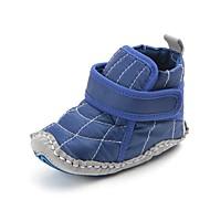 baratos Sapatos de Menino-Para Meninos Sapatos Algodão Inverno / Outono & inverno Sapatos de Berço / Botas da Moda Botas Velcro para Bebê Preto / Azul / Festas & Noite