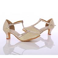 Γυναικεία Μοντέρνα παπούτσια Δίχτυ Τακούνια MiniSpot / Κόψιμο Κουβανικό Τακούνι Εξατομικευμένο Παπούτσια Χορού Χρυσό