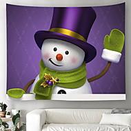 billige Veggdekor-Jul Veggdekor 100% Polyester Tradisjonell Veggkunst, Veggtepper Dekorasjon