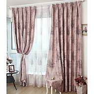 billige Mørkleggingsgardiner-Blackout Gardiner Soverom Moderne 100% Polyester Trykket & Jacquard