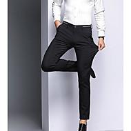 Men's Basic Suits Pants - Solid Colored High Waist Blue