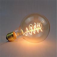 billige Bestelgere-1pc 40 W E26 / E27 G95 Varm hvit 2200-2700 k Kontor / Bedrift / Mulighet for demping / Dekorativ Glødende Vintage Edison lyspære 220-240 V